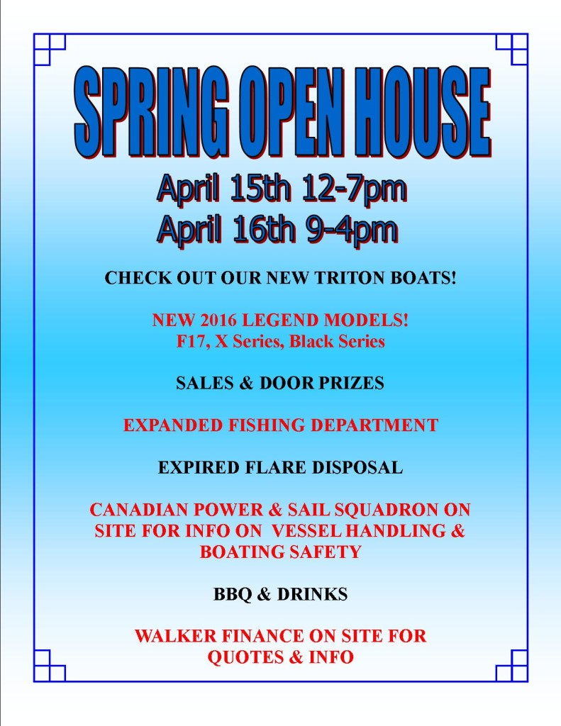 OPEN HOUSE  POSTER  Spring Open House - April 15th & 16th OPEN HOUSE POSTER